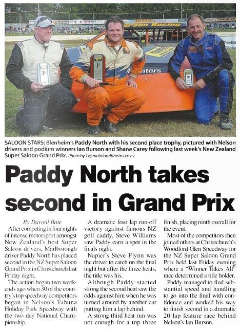 Paddy North takes second in Grand Prix