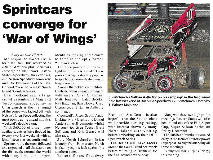 Sprintcars converge for War of Wings