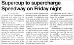 Supercup to supercharge speedway on Friday night