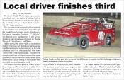 Local driver finishes third